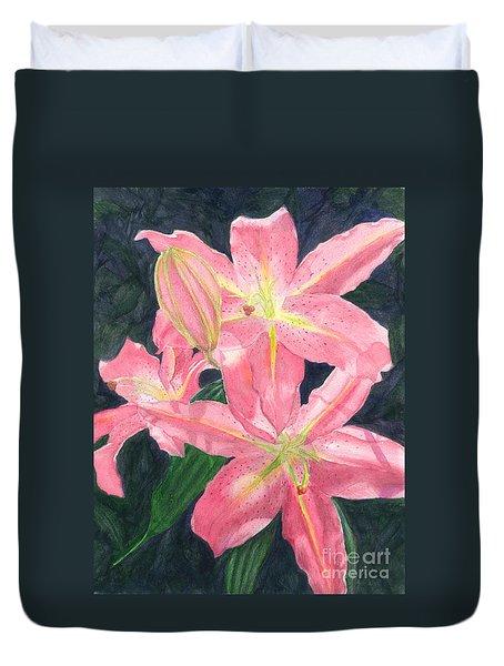 Sunlit Lilies Duvet Cover