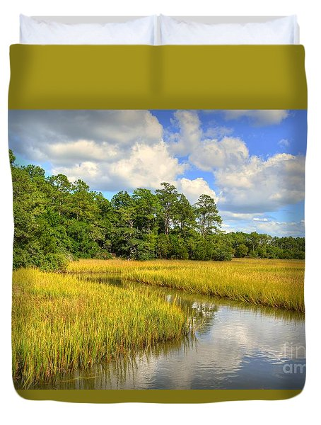 Sunlit Marsh Duvet Cover