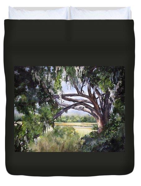 Sunlit Marsh Duvet Cover by Mary McCullah