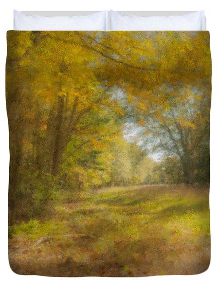 Sunlit Meadow In Borderland Duvet Cover