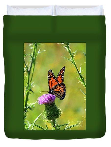 Sunlit Monarch  Duvet Cover