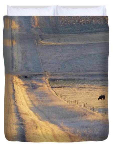Sunlit Road Duvet Cover