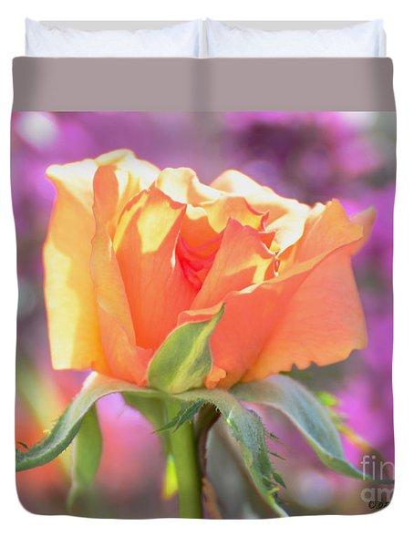 Sunlit Rose Duvet Cover