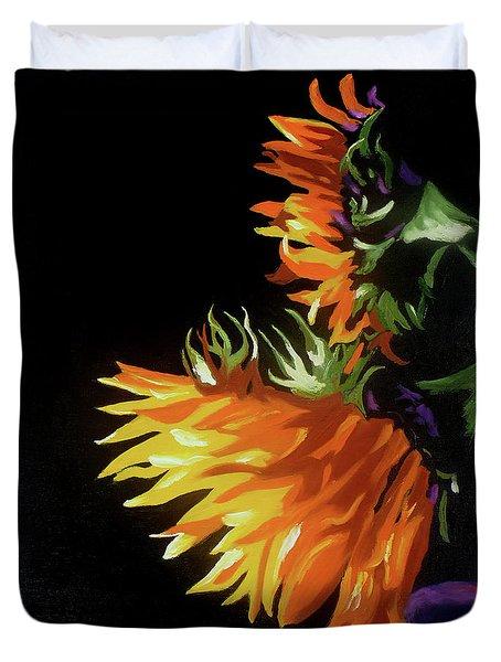 Sunlit Sunflowers Duvet Cover