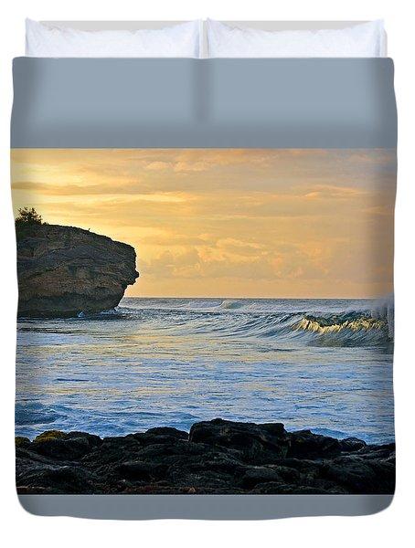 Sunlit Waves - Kauai Dawn Duvet Cover