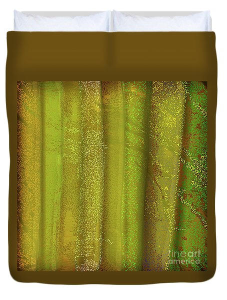 Sunlit Fall Forest Duvet Cover