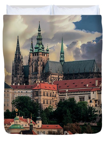 Sunny Afternoon In Prague Duvet Cover