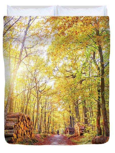 Sunny Autumn Duvet Cover