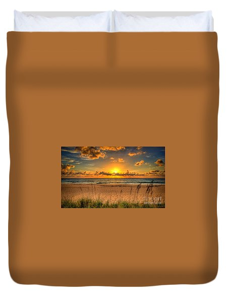 Sunny Beach To Warm Your Heart Duvet Cover