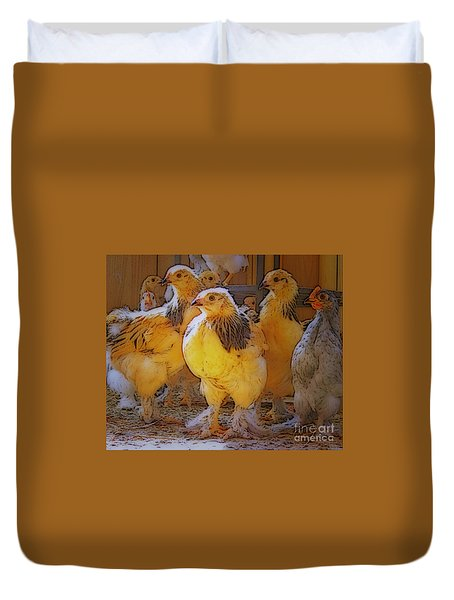Sunny Chicks Duvet Cover by Ruanna Sion Shadd a'Dann'l Yoder