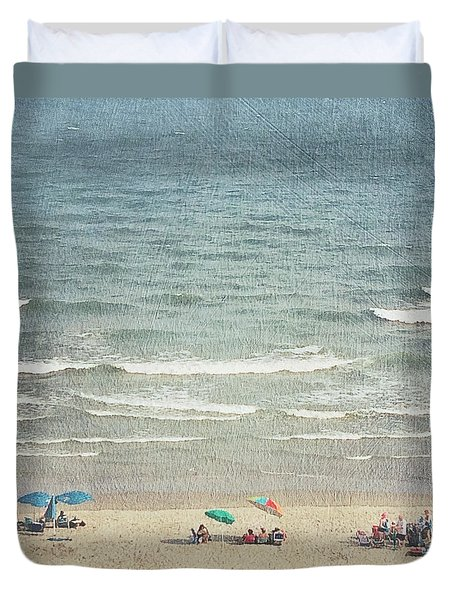 Sunny Day At North Myrtle Beach Duvet Cover