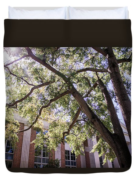 Duvet Cover featuring the photograph Sunny Days At Uga by Parker Cunningham