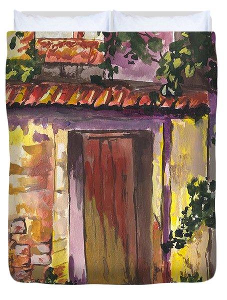 Sunny Doorway Duvet Cover