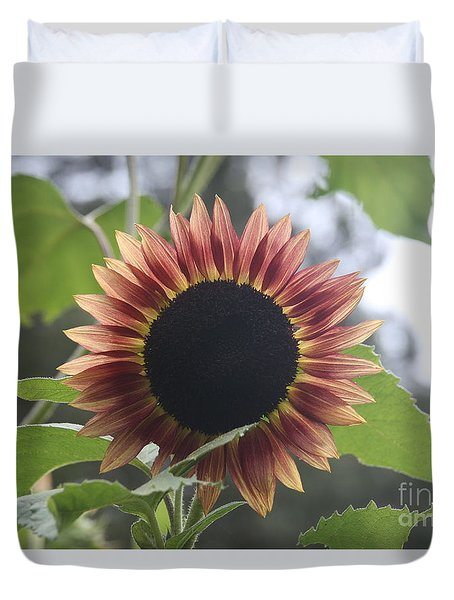 Sunny Face Duvet Cover by Wendy Coulson