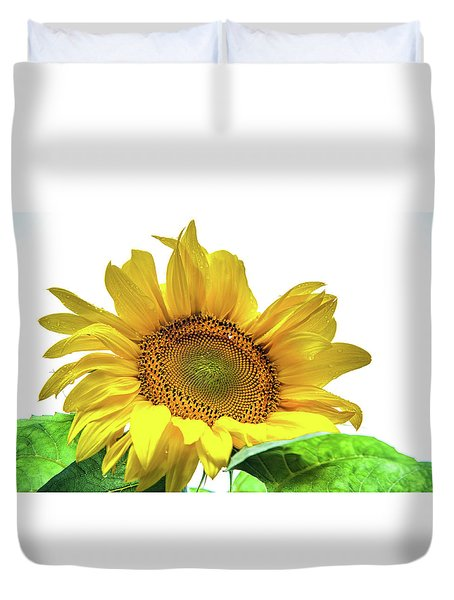 Duvet Cover featuring the photograph Sunny Flower by Jenny Rainbow