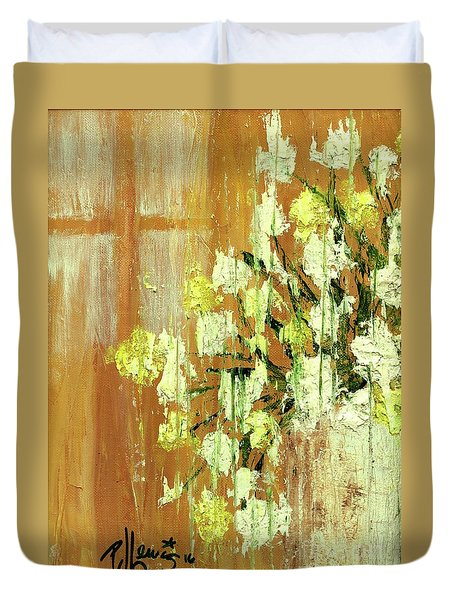 Sunny Flowers Duvet Cover by P J Lewis