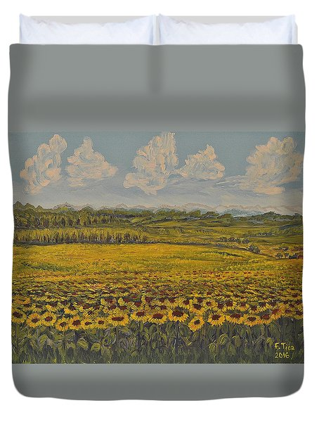 Sunny Moments Duvet Cover by Felicia Tica