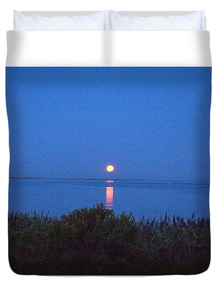 Sunny Moonset Duvet Cover