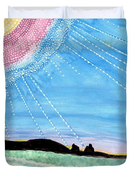 Sunny Ocean Days Are Bigger Than Life Duvet Cover by Connie Valasco