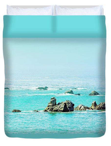 Sunny Pacific Ocean Oregon Coast Duvet Cover