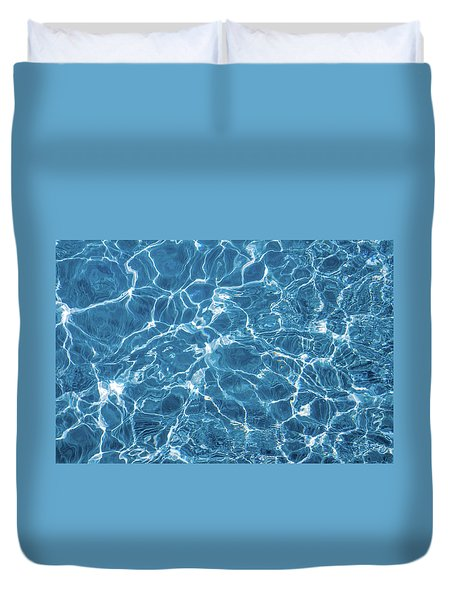 Duvet Cover featuring the photograph Sunny Reflections On Tropical Water by Jenny Rainbow