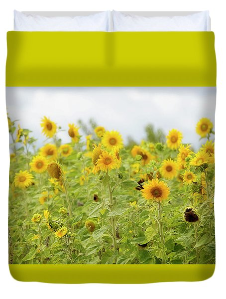 Duvet Cover featuring the photograph Sunny Roadside by Rebecca Cozart