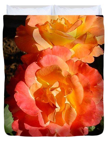 Sunny Roses Duvet Cover