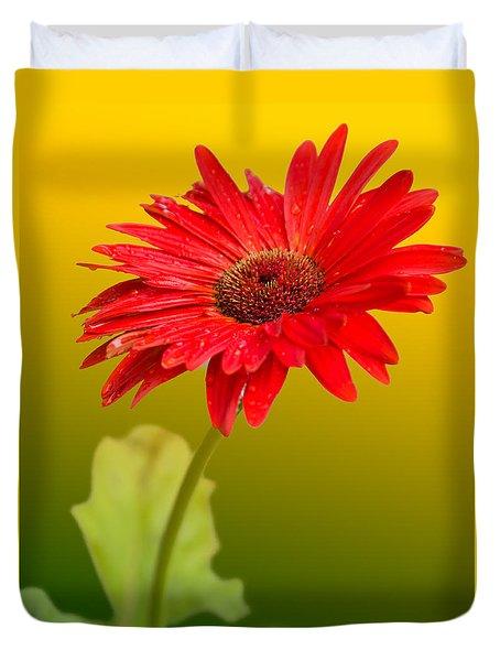 Sunny Side Red Duvet Cover