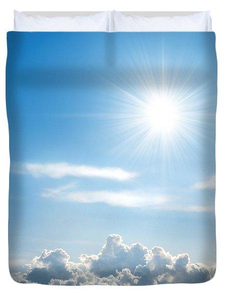 Sunny Sky Duvet Cover by Carlos Caetano