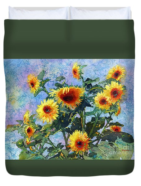 Duvet Cover featuring the painting Sunny Sundance by Hailey E Herrera