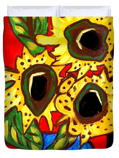 Sunny Sunflowers 1 Duvet Cover
