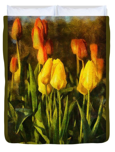 Sunny Tulips Duvet Cover