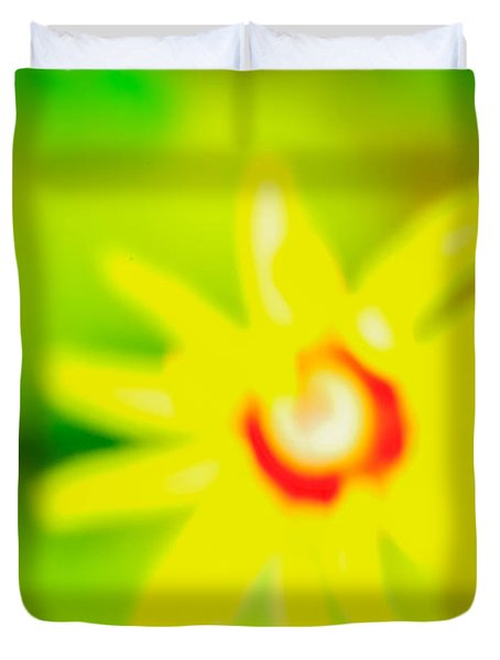 Duvet Cover featuring the mixed media Sunnyday by Kim Henderson