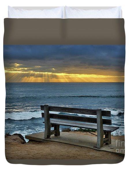 Sunrays On The Horizon Duvet Cover