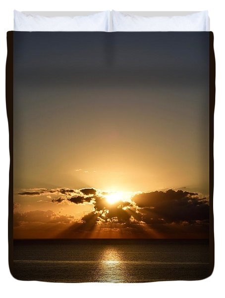 Duvet Cover featuring the photograph Sunrise 1 by Shabnam Nassir