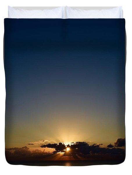 Duvet Cover featuring the photograph Sunrise 2 by Shabnam Nassir