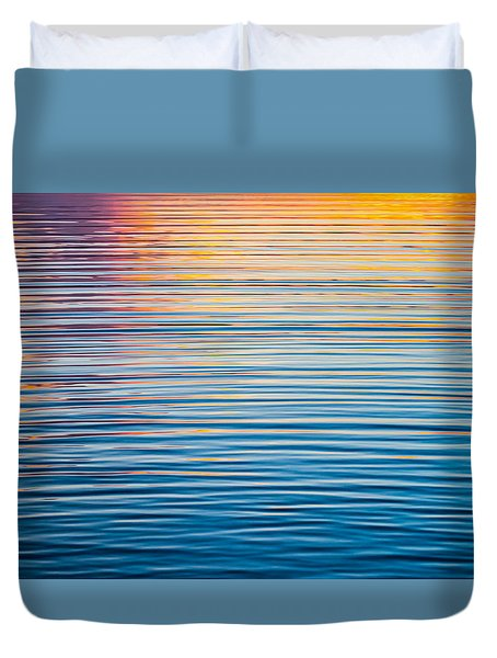 Sunrise Abstract On Calm Waters Duvet Cover