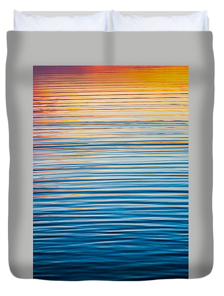 Sunrise Abstract  Duvet Cover