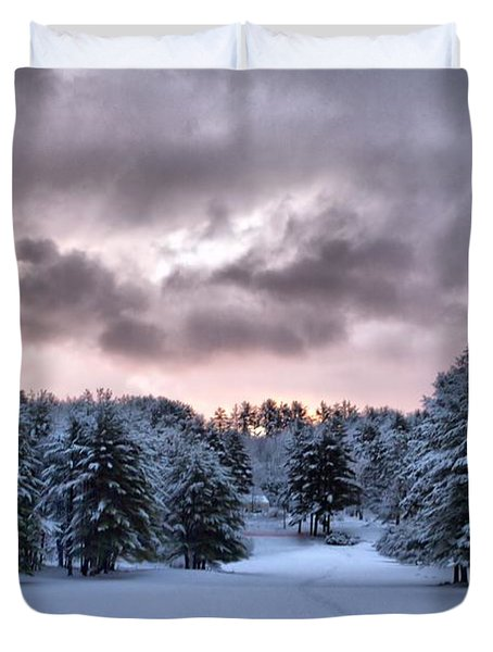 Sunrise After The Snow  Duvet Cover