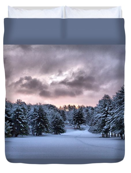 Sunrise After The Snow  Duvet Cover by Betty Pauwels