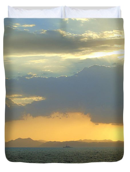 Sunrise After The Typhoon Duvet Cover