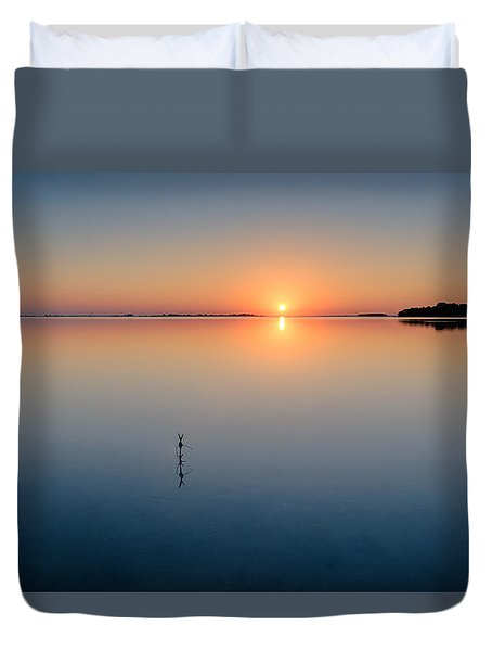 Sunrise Along The Pinellas Byway Duvet Cover