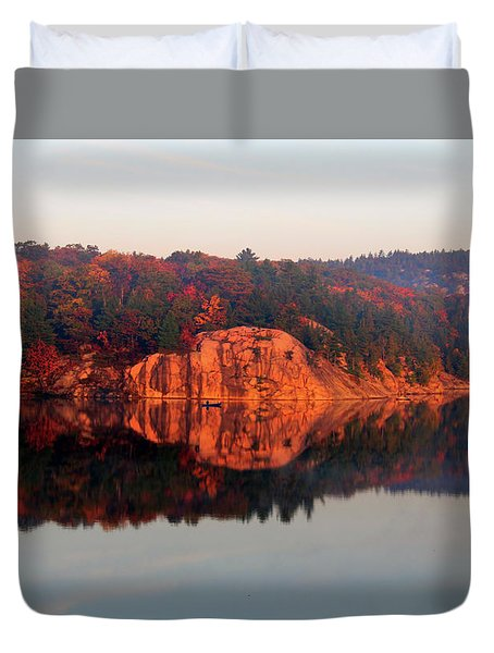 Duvet Cover featuring the photograph Sunrise And Harmony by Debbie Oppermann