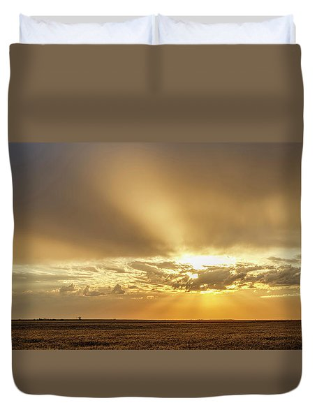 Duvet Cover featuring the photograph Sunrise And Wheat 04 by Rob Graham