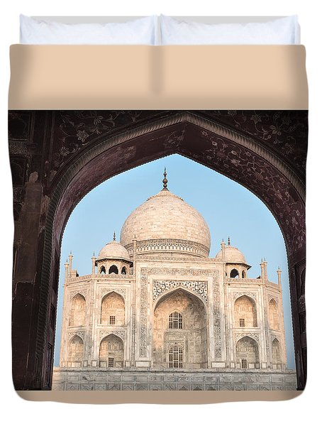 Sunrise Arches Of The Taj Mahal Duvet Cover