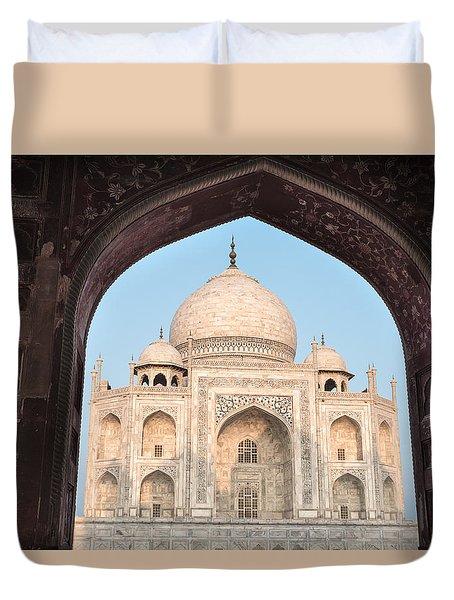 Sunrise Arches Of The Taj Mahal Duvet Cover