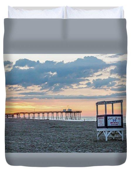 Sunrise At 16th Street Ocean City New Jersey Duvet Cover