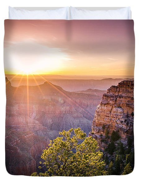 Sunrise At Angel's Window Grand Canyon Duvet Cover
