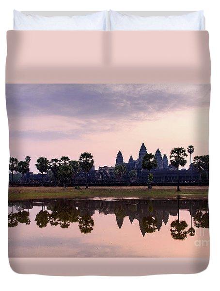 Sunrise At Angkor Wat Duvet Cover