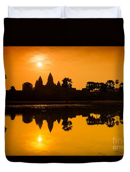 Sunrise At Angkor Wat Duvet Cover